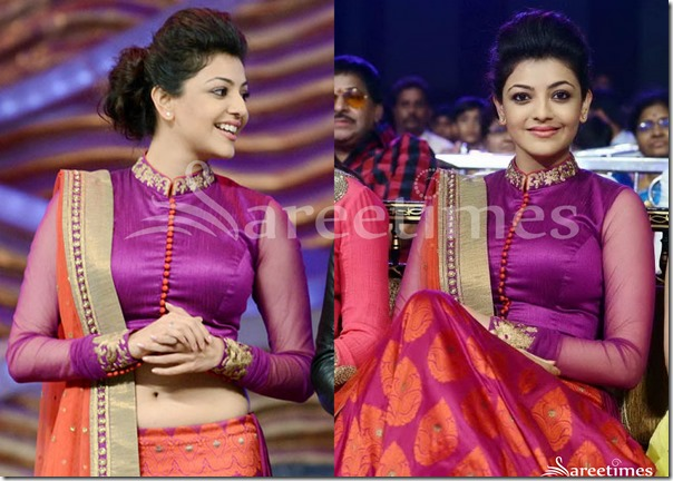 Kajal_Agarwal_High_Neck_Blouse