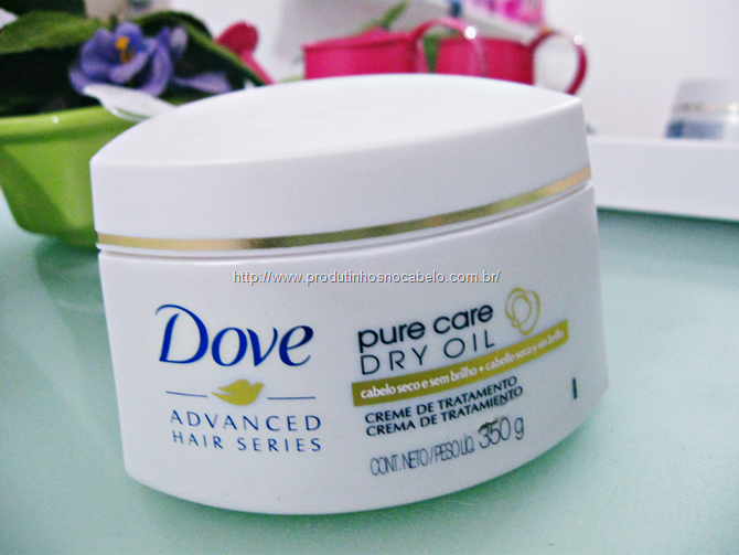 Máscara Dove Pure Care Dry Oil
