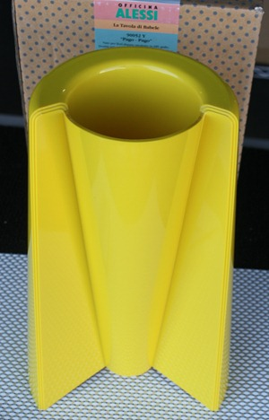 Pago Pago Alessi reissue, yellow, with box