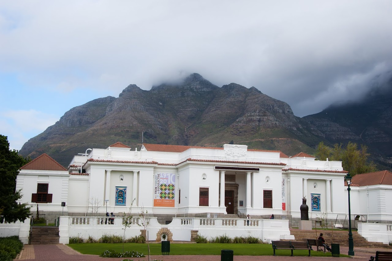 Table Mountain from the museum in Cape Town
