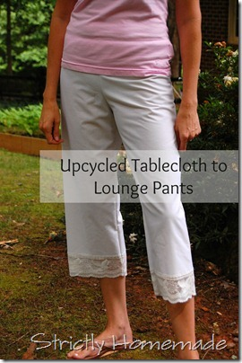Tablecloth to lounge pants