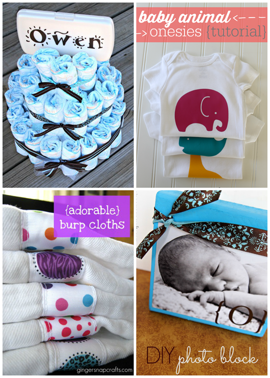 baby gift ideas at GingerSnapCrafts.com