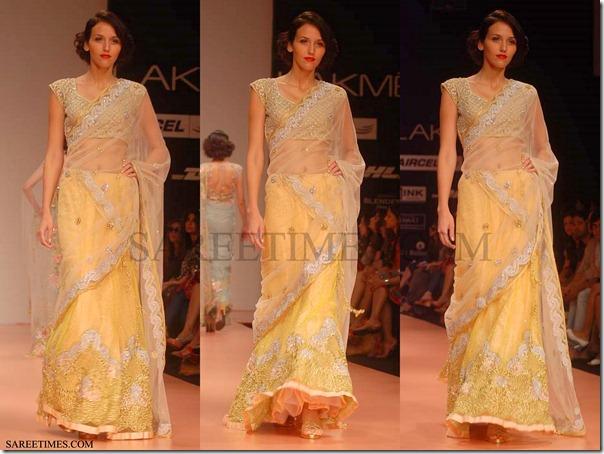 Bhairava_Jaikishan_Yellow_Shimmer_Saree