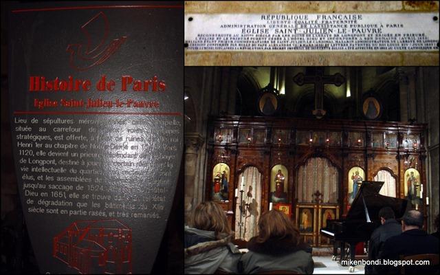 Eglise Saint-Julien-le-Pauvre (Chopin concert)