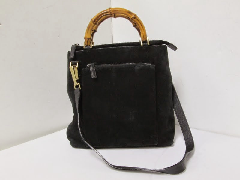 Gucci Black Suede Handbag