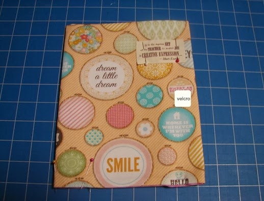 fabric cover journal velcro attachment