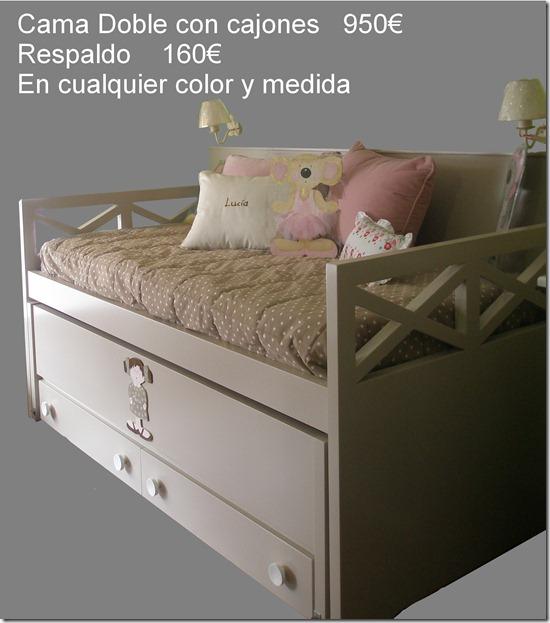 Camas con diversas formas y buen precio en madrid for Precio cama nido doble con cajones