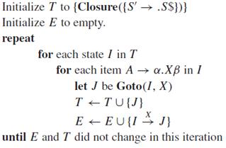 Algortimo para generar LR