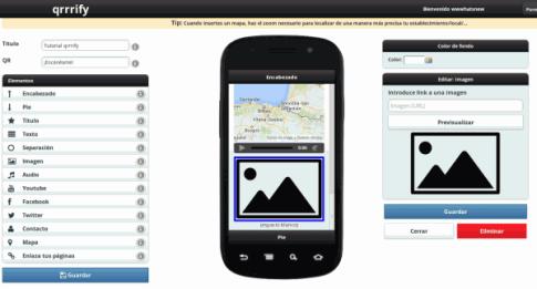 Diseño de páginas web para móviles con qrrrify