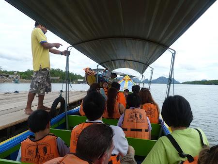 Imagini Thailanda: long tail boat Phang Nga