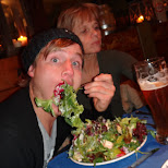 eating salads in Seefeld, Tirol, Austria