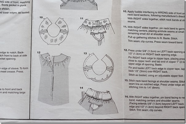 Pattern instructions