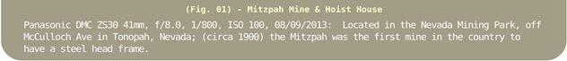 Image Title Bar 04 Mitzpah Mine & Hoist House