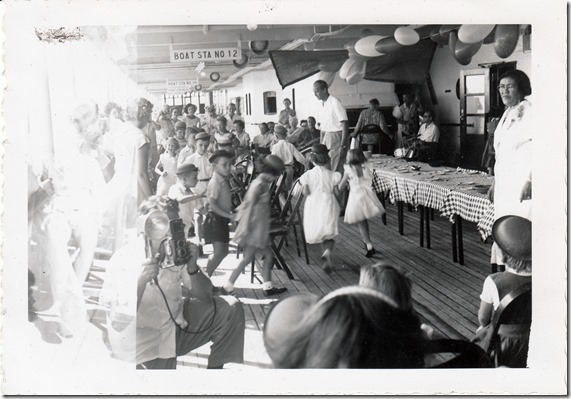 Musical Chairs on the S.S. Brazil July 1952