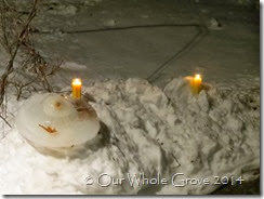 candles in the snow
