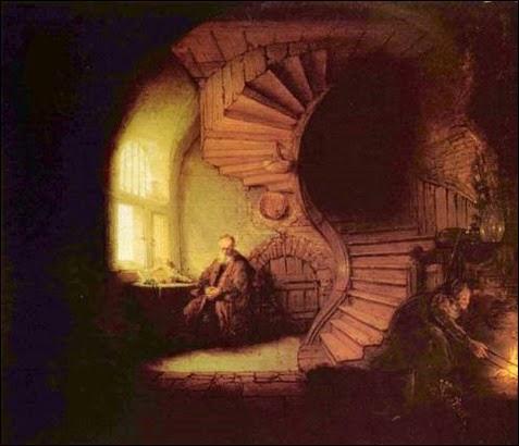 Rembrandt, O filósofo em meditação, 1632