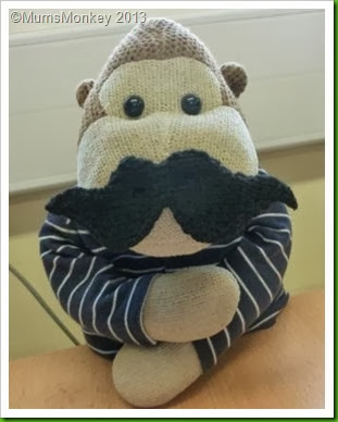 Knitted Movember Moustache. 2013