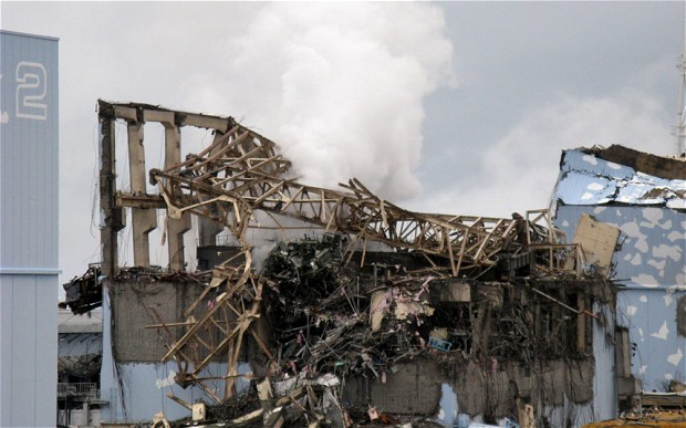 The crippled Fukushima Dai-ichi nuclear plant's unit 3 reactor building. Photo: Getty Images / AFP