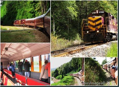 photo train collage