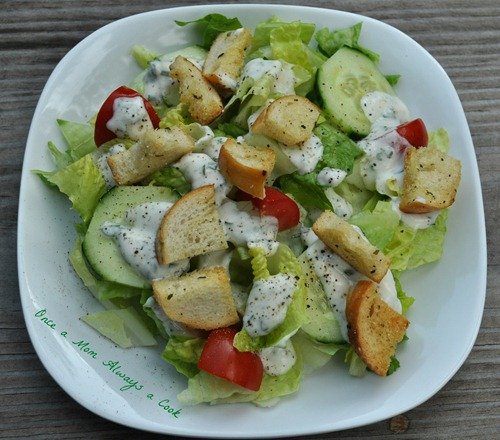 Homemade Croutons and Ranch Dressing