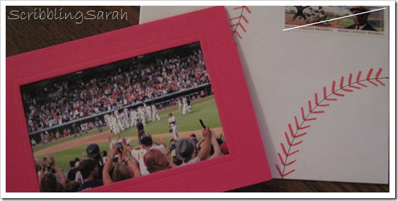 baseball theme card