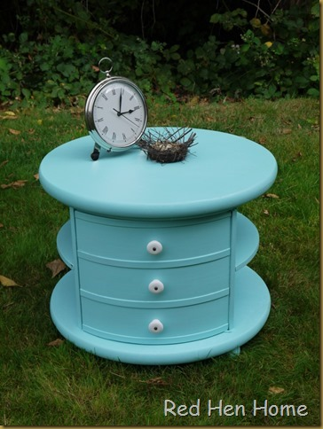 Red Hen Home Round Aqua Table 1