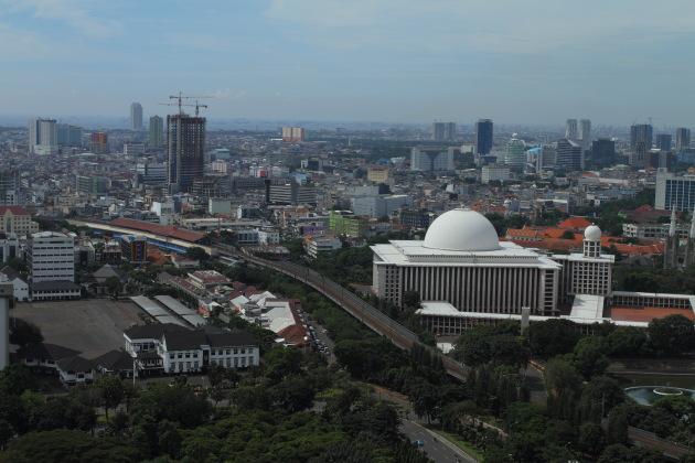 Packed metropolis of Jakarta, Indonesia