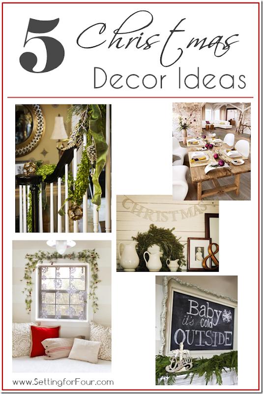 5 Fabulous Christmas Decor Ideas - Setting for Four