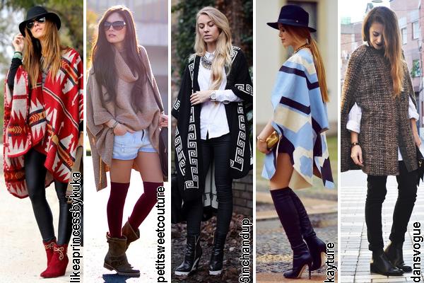 Como llevar capas ponchos 03 blogger outfit