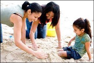 familia gay praia