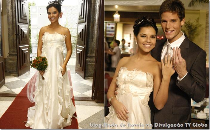 moda da novela malhação - vestido de noiva da yasmin