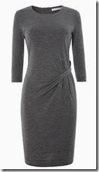 Hugo Boss Grey Side Drape Dress