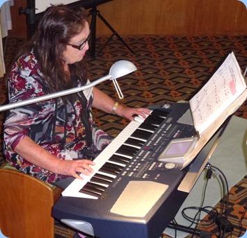 Desiree Barrows playing her Korg Pa500