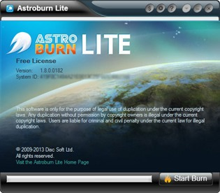 Astroburn Lite Free Discs and Image Burning