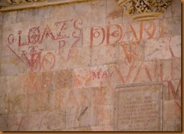 Salamanca writing on wall