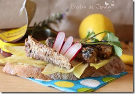 Bruscheta de sardines grillées - Jena