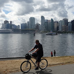 cycling at Stanley Park, Vancoucer by Matt van Vuuren in Vancouver, British Columbia, Canada