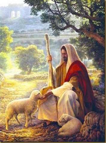 PASTOR JESUS CON CORDERO