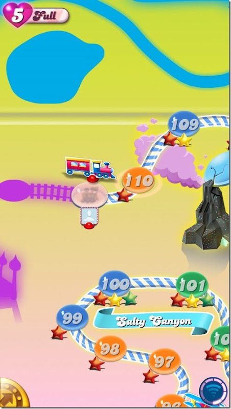 Candy Crush Saga - Restored to last unlocked level and with full lives