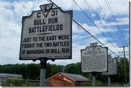Bull Run Battlefields Marker C-31 grouped with others