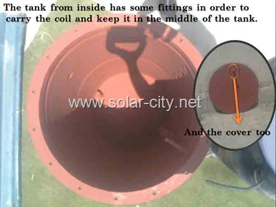homemade solar water heater - thermal storage tank - solar city