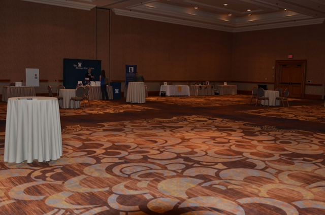 The exhibition floor at the Heartland Institute's 9th International Conference on Climate Change, held in Las Vegas in July 2014. Photo: Brendan Montague