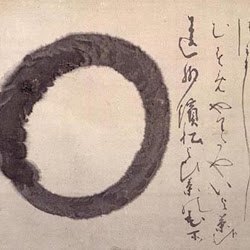 Hakuin, (probably representing sunyata (void) or the universal)