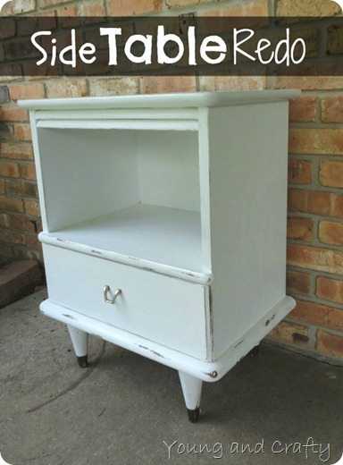 Chalk Paint Side Table Redo