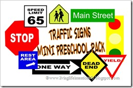 traffic signs mini preschool pack #preschool