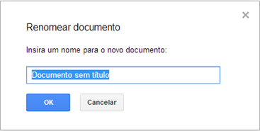 Renomear documento - Google Drive