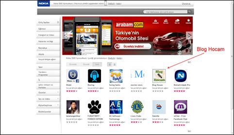 Nokia Uygulamalar Sayfası