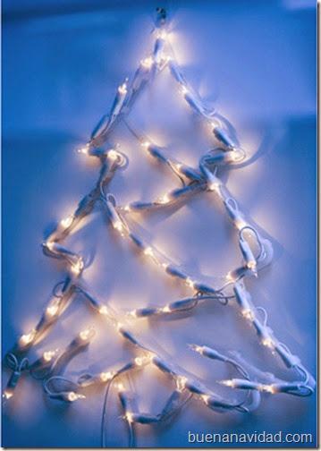 Rbol de navidad hecho con luces - Arbol de navidad hecho de luces ...