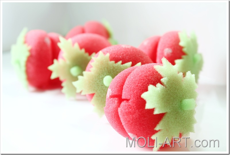 fresas-esponja-para-rizar-el-pelo-ebay