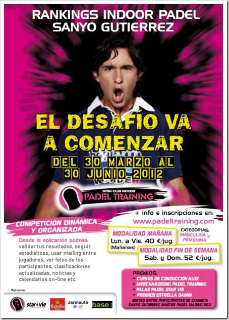 """Ranking """"Sanyo Gutierrez"""" en el Open Club Indoor Padel Training de Rivas Vaciamadrid."""